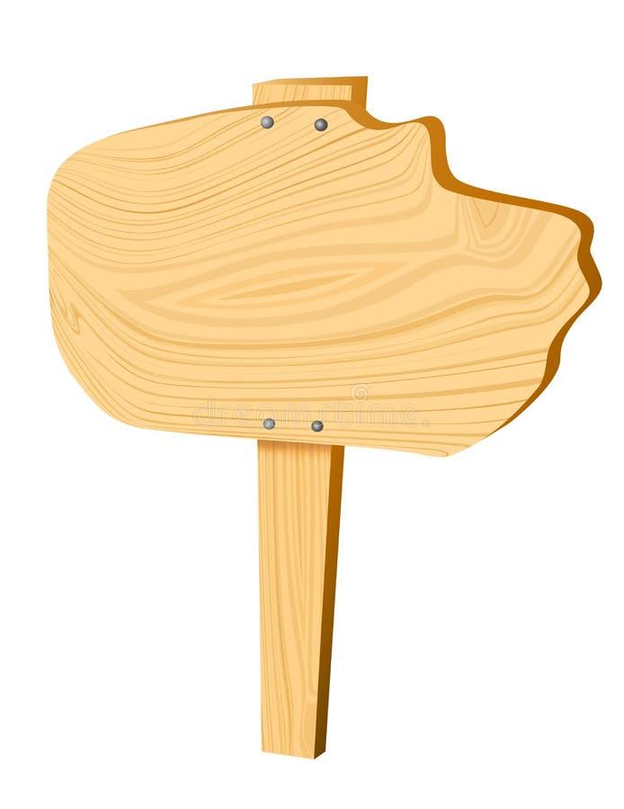 Signe en bois blanc de vecteur illustration libre de droits