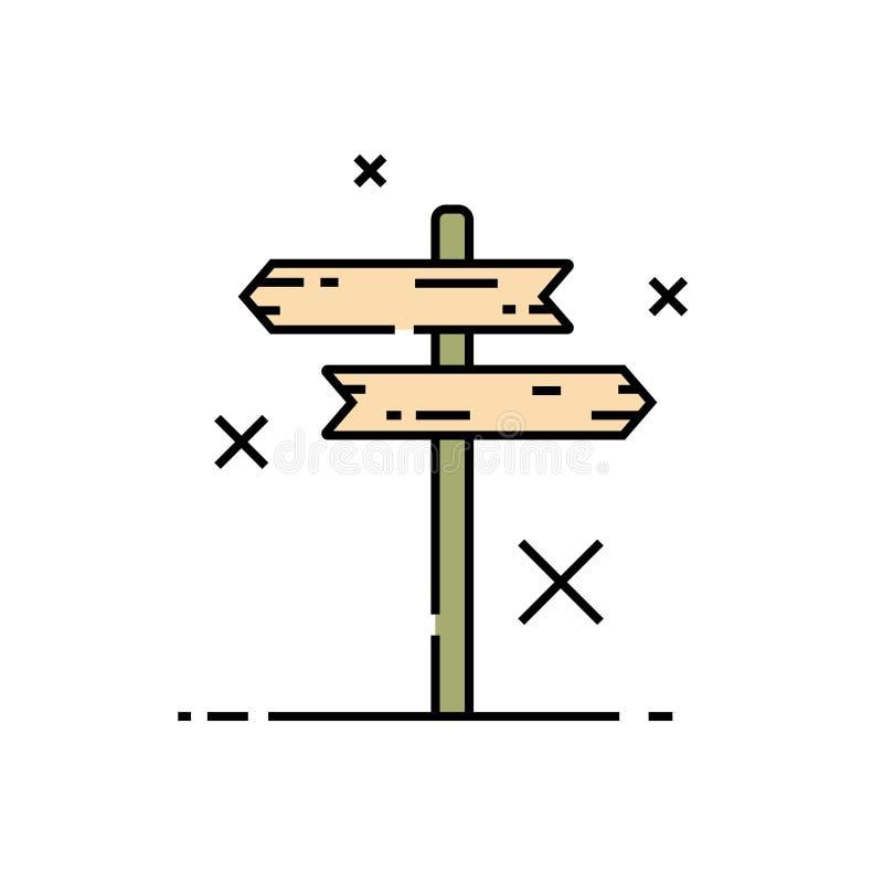 Signe en bois de carrefour illustration de vecteur