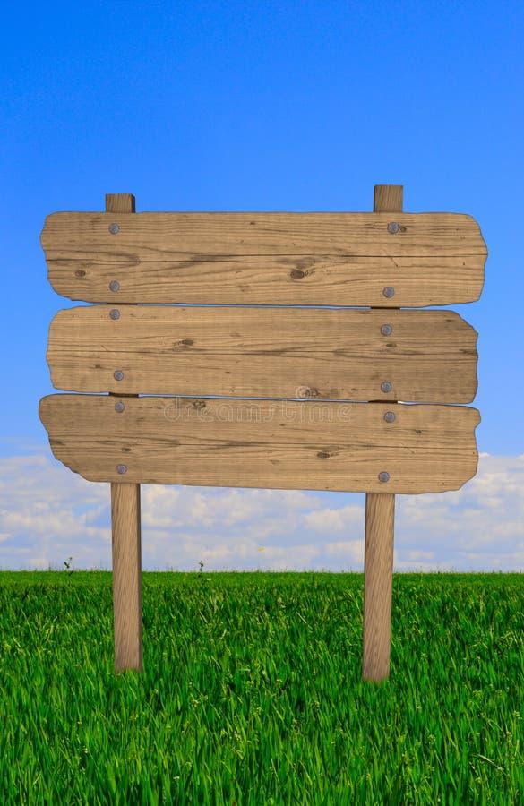 Signe en bois de cru illustration de vecteur