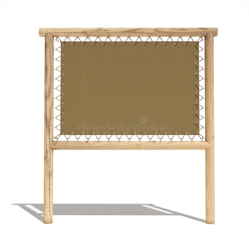Signe en bois de Djungel illustration stock