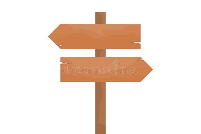 Signe en bois de flèche image libre de droits