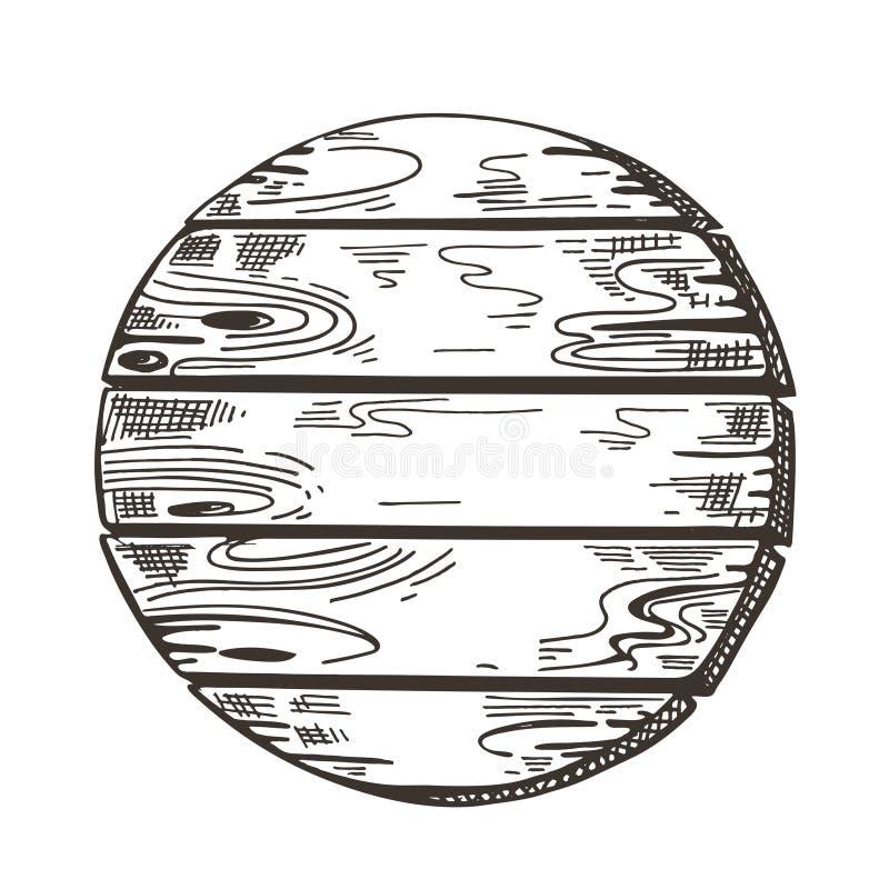 Signe en bois graphiques de croquis Fond de promenade Image de vecteur illustration stock