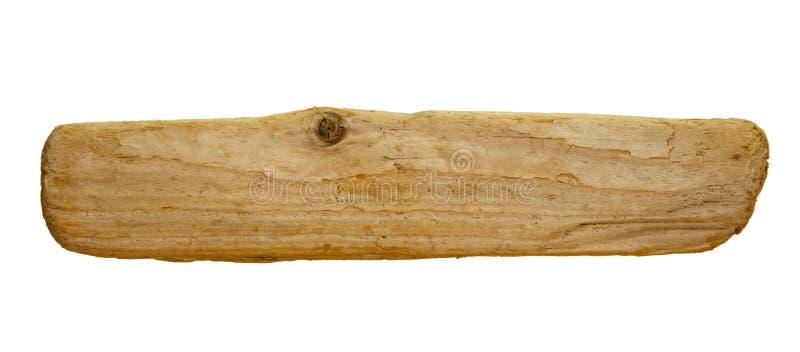 Signe en bois vide, panneau contre le blanc photo stock
