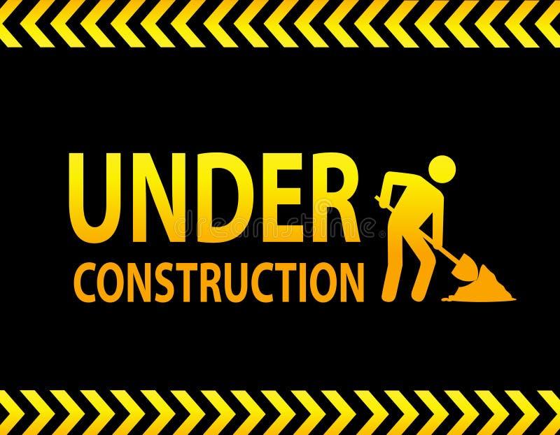 Signe en construction illustration libre de droits