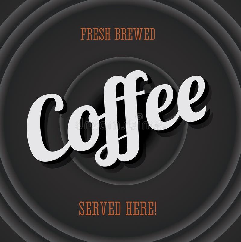 Signe en métal de cru - café préparé frais illustration de vecteur