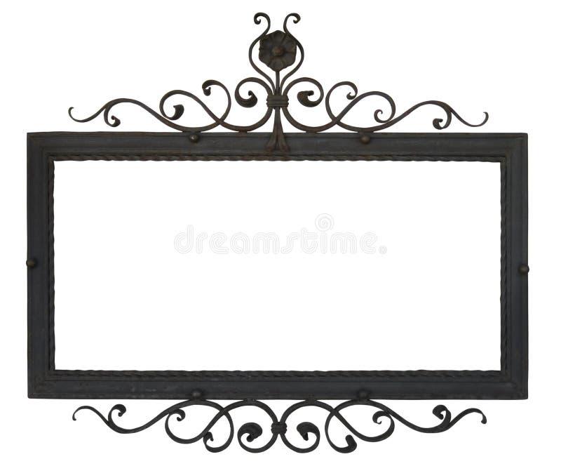Signe en métal Objet d'isolement sur le blanc, avec le chemin de coupure photos stock