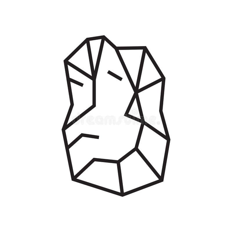 Signe en pierre et symbole de vecteur d'icône d'isolement sur le fond blanc illustration stock