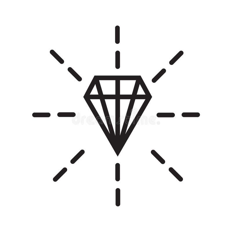 Signe en pierre et symbole de vecteur d'icône d'isolement sur le fond blanc illustration de vecteur