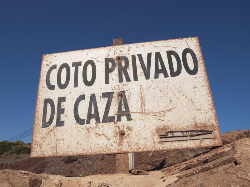 Signe espagnol rustique images libres de droits