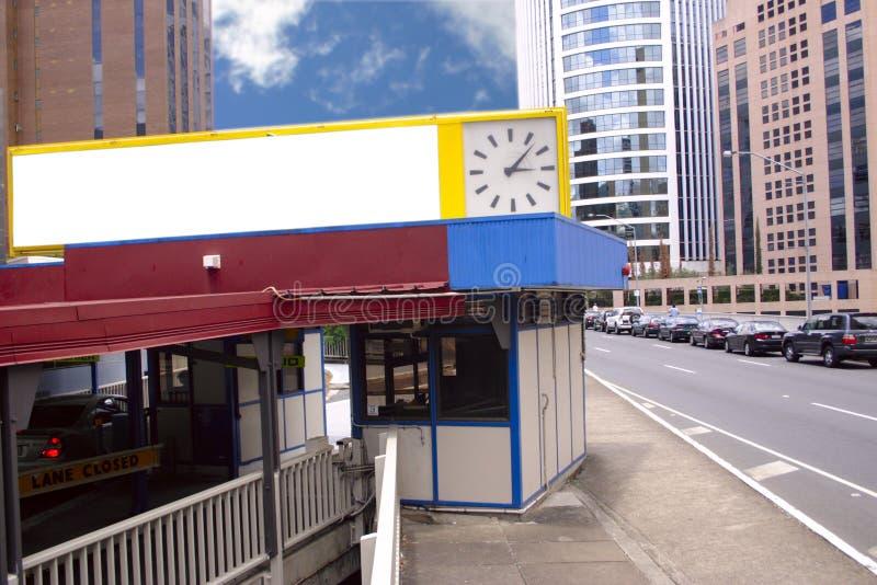 Signe et horloge blanc photo libre de droits