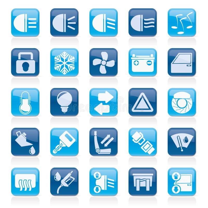 Signe et icônes d'interface de voiture illustration de vecteur