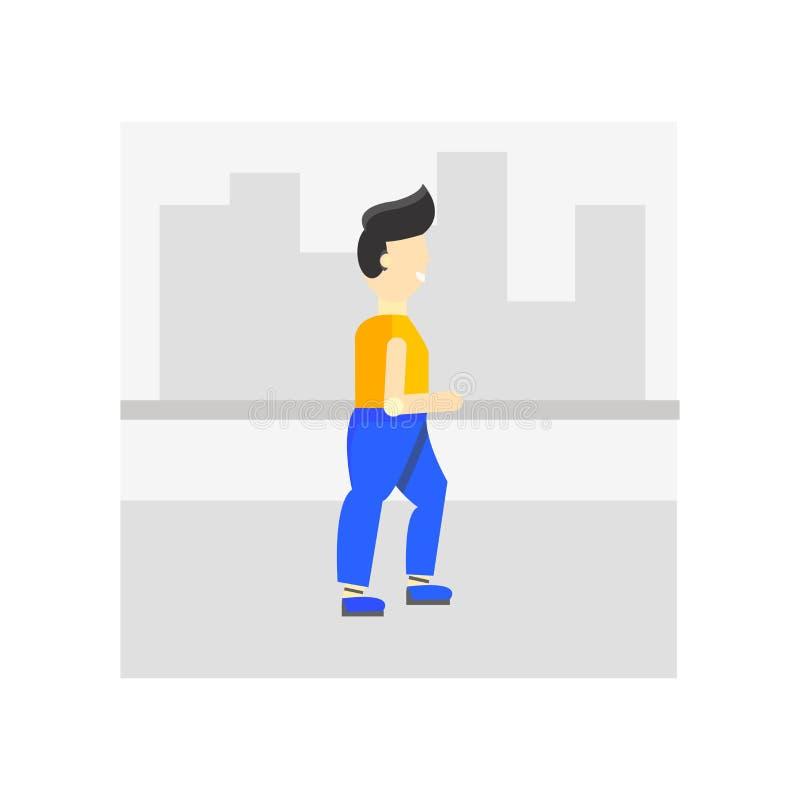 Signe et symbole de marche de vecteur d'icône d'isolement sur le fond blanc, concept de marche de logo illustration stock