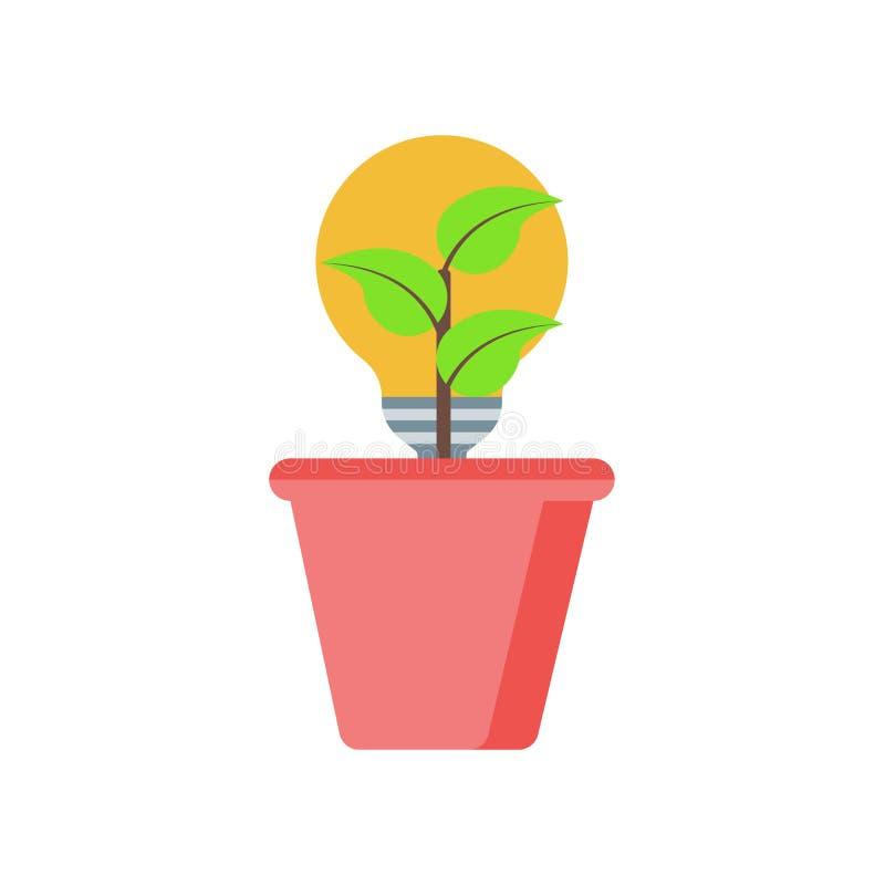 Signe et symbole de vecteur d'icône d'énergie renouvelable d'isolement sur b blanc illustration stock