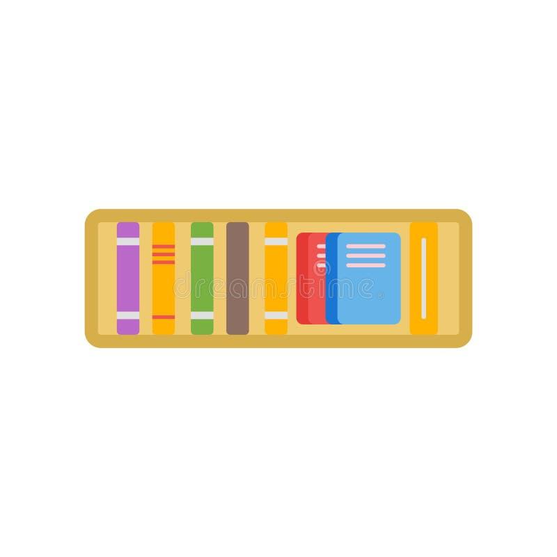 Signe et symbole de vecteur d'icône d'étagère d'isolement sur le backgrou blanc illustration de vecteur