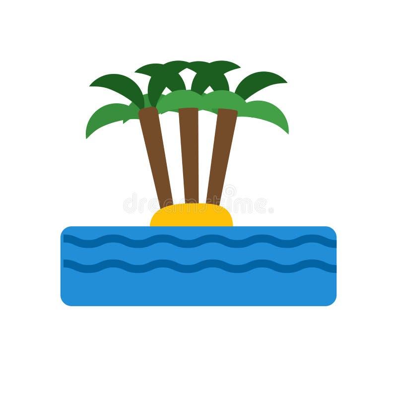 Signe et symbole de vecteur d'icône d'île d'isolement sur le fond blanc, concept de logo d'île illustration stock