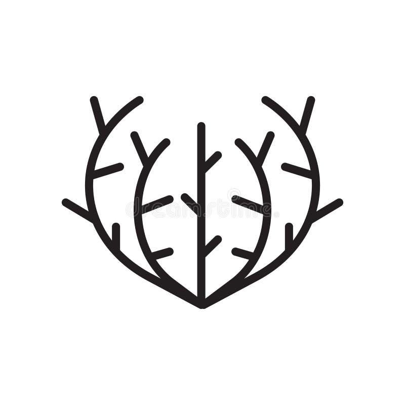 Signe et symbole de vecteur d'icône d'amarante d'isolement sur le backgro blanc illustration libre de droits