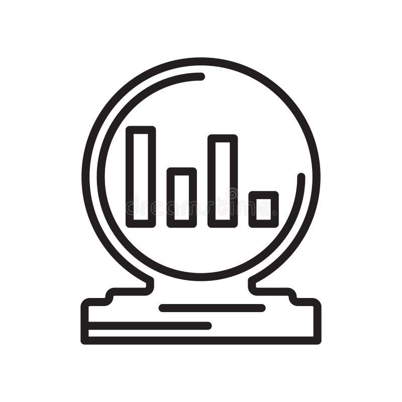 Signe et symbole de vecteur d'icône d'Analytics d'isolement sur le backgrou blanc illustration libre de droits
