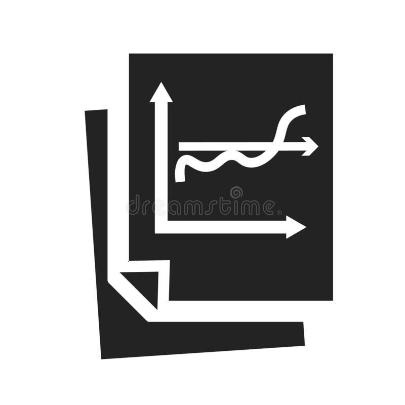 Signe et symbole de vecteur d'icône d'Analytics d'isolement sur le fond blanc, concept de logo d'Analytics illustration stock
