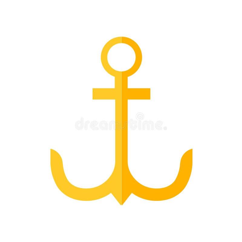 Signe et symbole de vecteur d'icône d'ancre d'isolement sur le fond blanc, concept de logo d'ancre illustration libre de droits