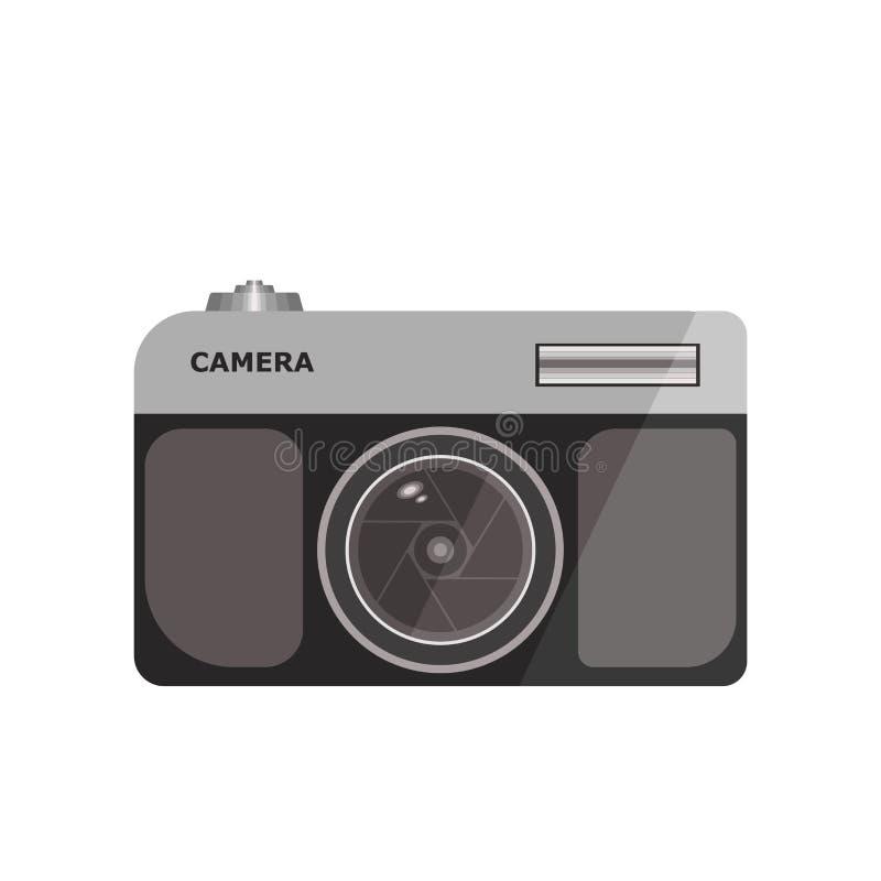 Signe et symbole de vecteur d'icône d'appareil-photo de photo d'isolement sur le fond blanc, concept de logo d'appareil-photo de  illustration de vecteur