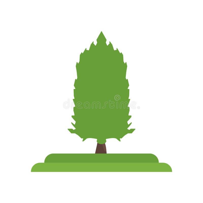 Signe et symbole de vecteur d'icône d'arbre de mélèze américain d'isolement sur le petit morceau illustration libre de droits