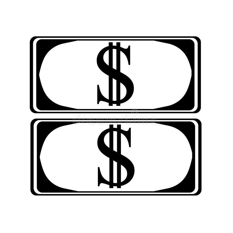 Signe et symbole de vecteur d'icône d'argent d'isolement sur le fond blanc, concept de logo d'argent illustration de vecteur