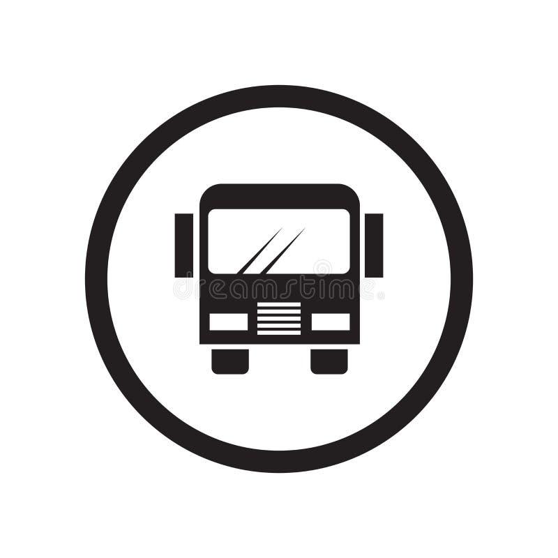 Signe et symbole de vecteur d'icône d'arrêt d'autobus de chercheur d'isolement sur le fond blanc, concept de logo d'arrêt d'autob illustration stock