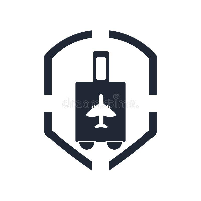 Signe et symbole de vecteur d'icône d'assurance de transports aériens d'isolement sur le whi illustration libre de droits