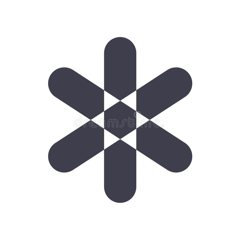 Signe et symbole de vecteur d'icône d'astérisque d'isolement sur le fond blanc, concept de logo d'astérisque illustration de vecteur