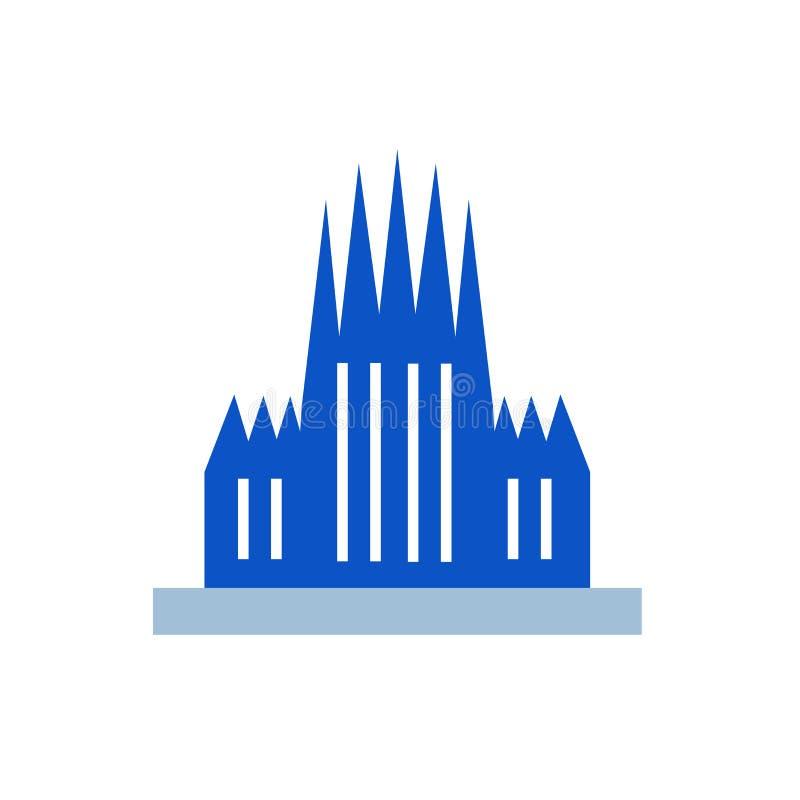 Signe et symbole de vecteur d'icône de Barcelone d'isolement sur le fond blanc illustration de vecteur