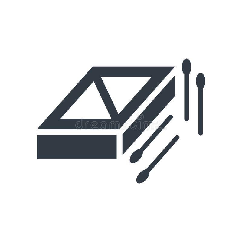 Signe et symbole de vecteur d'icône de boîte d'allumettes d'isolement sur le backgroun blanc illustration stock