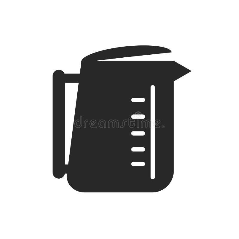 Signe et symbole de vecteur d'icône de bouilloire d'isolement sur le fond blanc, concept de logo de bouilloire illustration libre de droits