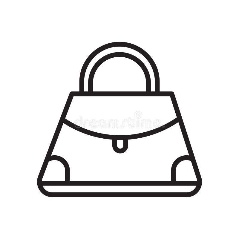 Signe et symbole de vecteur d'icône de bourse d'isolement sur le fond blanc illustration stock