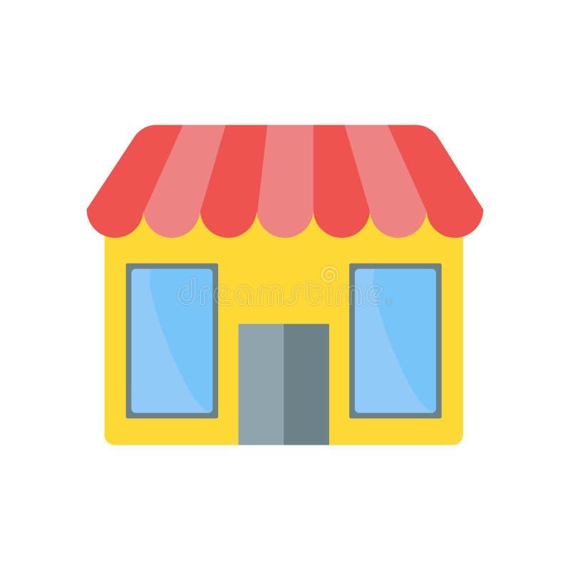 Signe et symbole de vecteur d'icône de boutique d'isolement sur le fond blanc, S illustration libre de droits