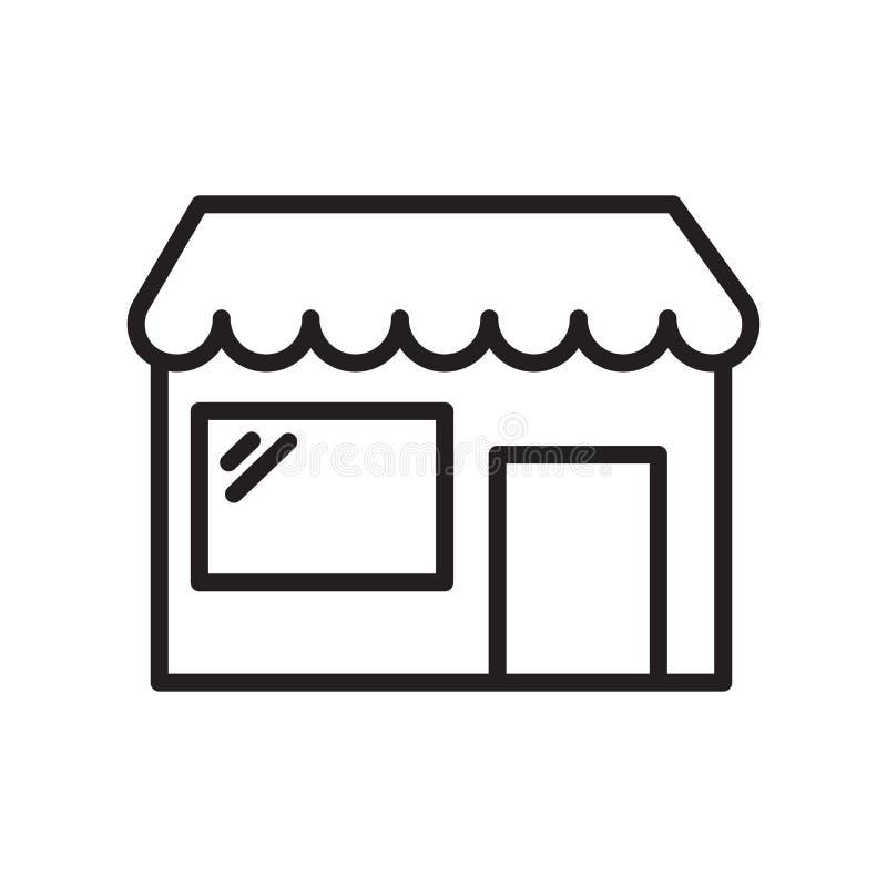 Signe et symbole de vecteur d'icône de boutique d'isolement sur le fond blanc, S illustration stock
