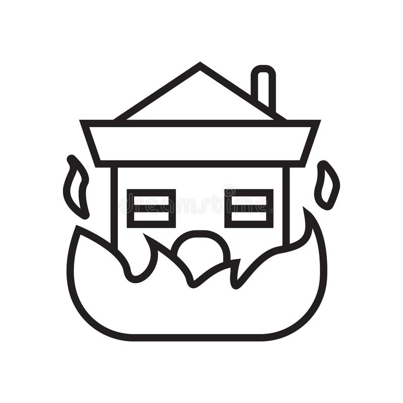 Signe et symbole de vecteur d'icône de brûlure d'isolement sur le fond blanc, B illustration libre de droits