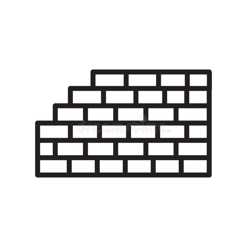 Signe et symbole de vecteur d'icône de briques d'isolement sur le fond blanc illustration libre de droits