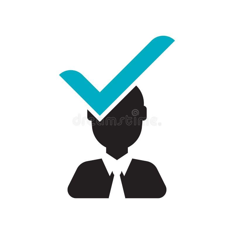 Signe et symbole de vecteur d'icône de candidat d'isolement sur le fond blanc, concept de logo de candidat illustration libre de droits