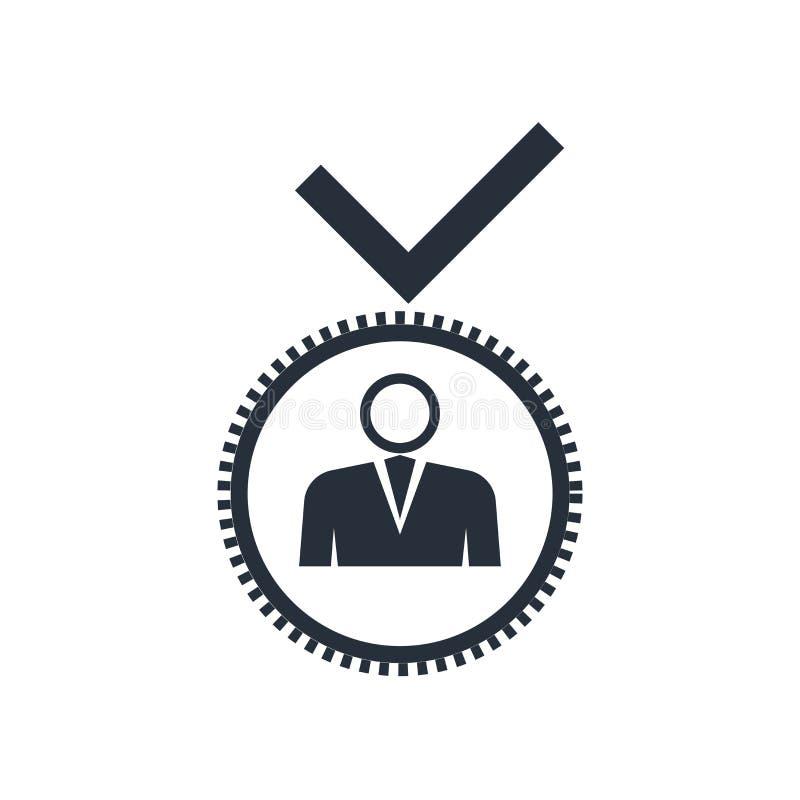 Signe et symbole de vecteur d'icône de candidat d'isolement sur le fond blanc, concept de logo de candidat illustration de vecteur