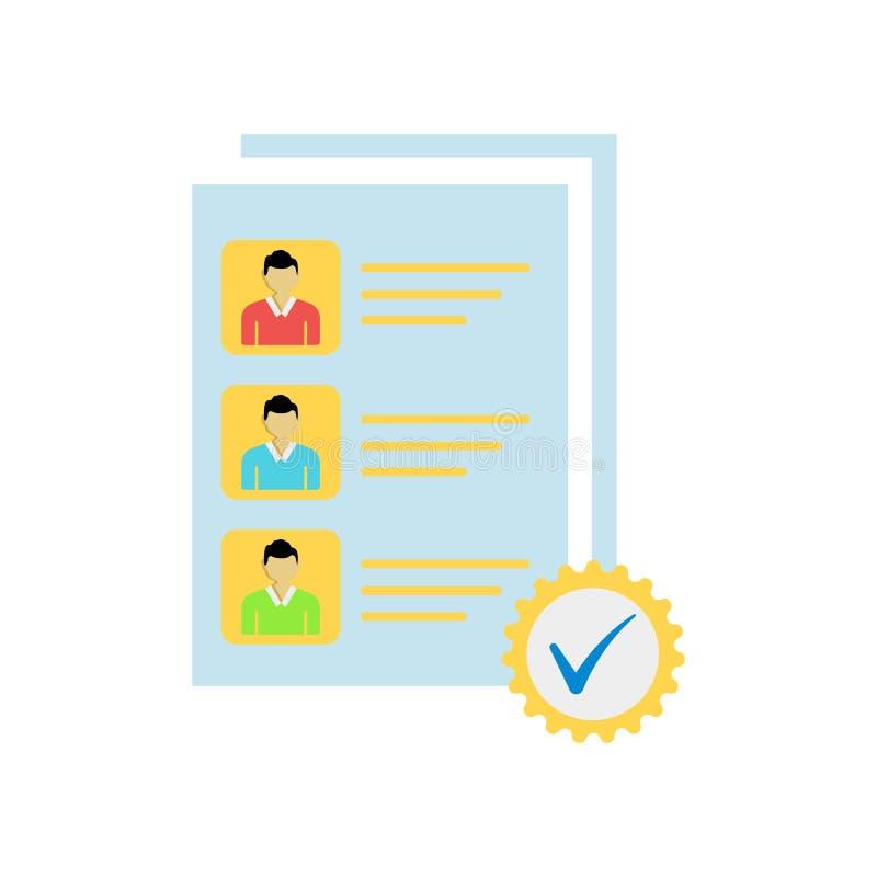 Signe et symbole de vecteur d'icône de candidats d'isolement sur le backgro blanc illustration libre de droits