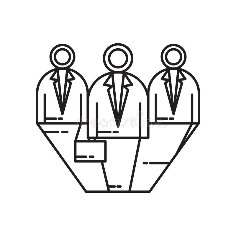 Signe et symbole de vecteur d'icône de candidats d'isolement sur le fond blanc, concept de logo de candidats illustration libre de droits