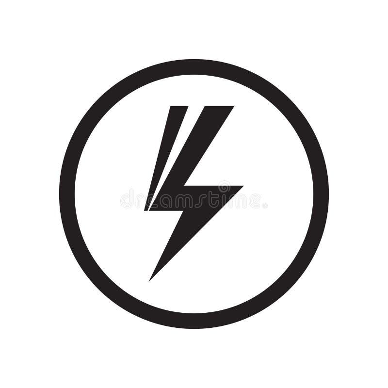 Signe et symbole de vecteur d'icône de signe de choc d'isolement sur le fond blanc, concept de logo de signe de choc illustration de vecteur
