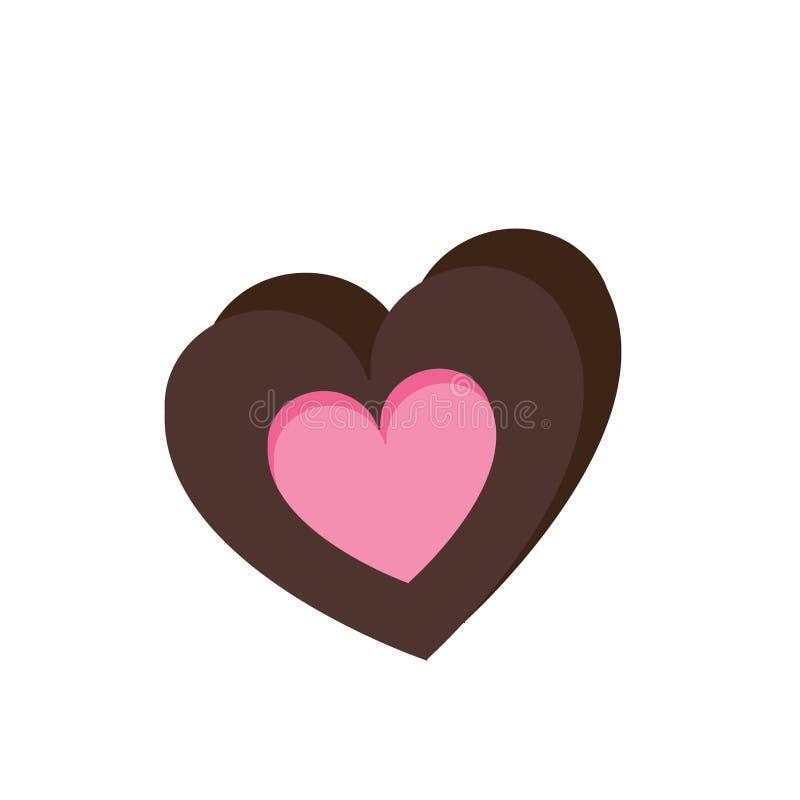 Signe et symbole de vecteur d'icône de chocolat d'isolement sur le fond blanc, concept de logo de chocolat illustration stock
