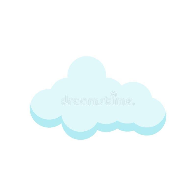signe et symbole de vecteur d'icône de cloude d'isolement sur le fond blanc, concept de logo de cloude illustration stock