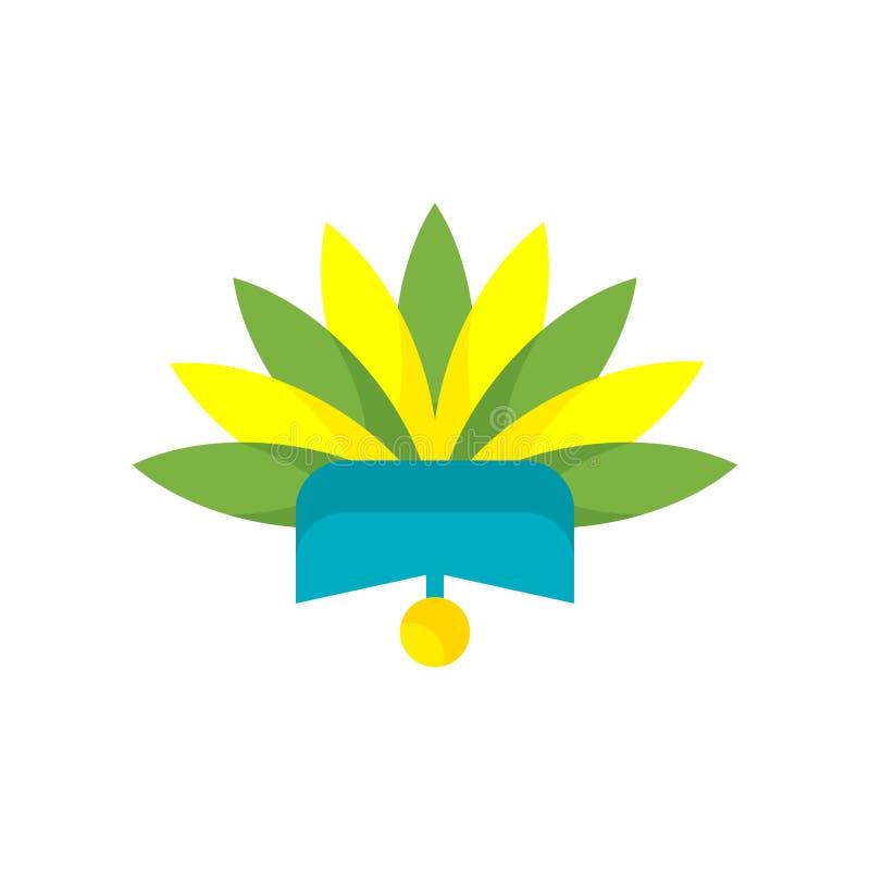Signe et symbole de vecteur d'icône de coiffe d'isolement sur le backgrou blanc illustration libre de droits