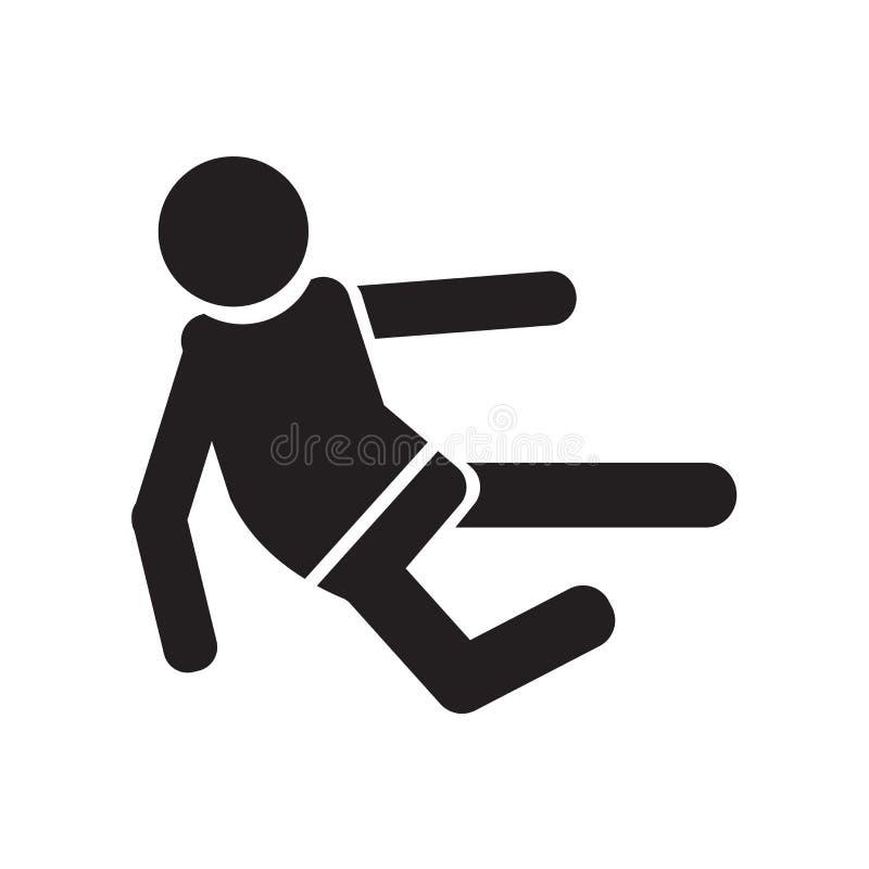 Signe et symbole de vecteur d'icône de combattant de karaté d'isolement sur le fond blanc, concept de logo de combattant de karat illustration libre de droits