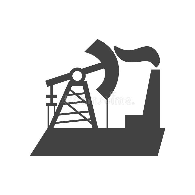 Signe et symbole de vecteur d'icône de combustibles fossiles d'isolement sur le fond blanc, concept de logo de combustibles fossi illustration stock