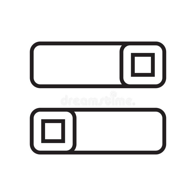 Signe et symbole de vecteur d'icône de commutateurs d'isolement sur le backgroun blanc illustration libre de droits