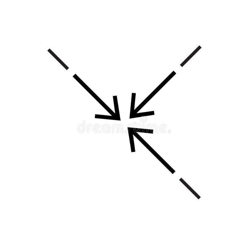 Signe et symbole de vecteur d'icône de compresse d'isolement sur le fond blanc, concept de logo de compresse illustration de vecteur