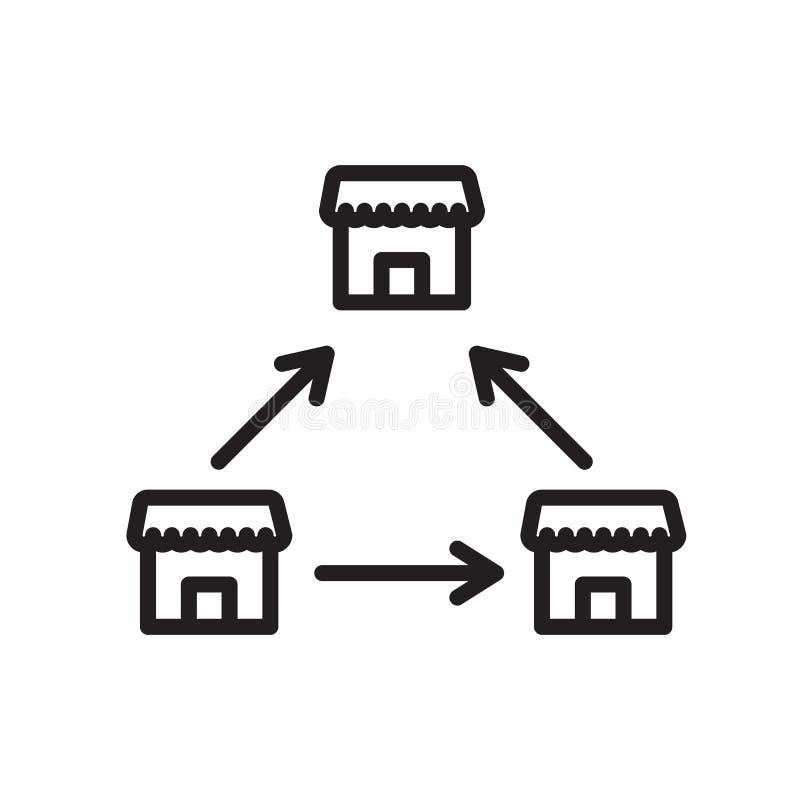 Signe et symbole de vecteur d'icône de concession d'isolement sur le fond blanc, concept de logo de concession illustration libre de droits